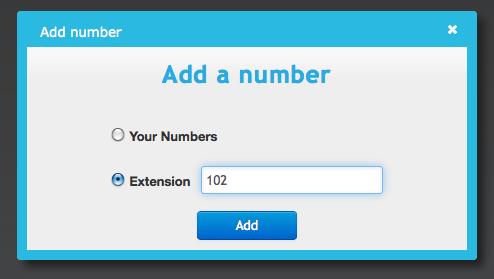 Callflow - Add Extension