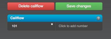 Callflow - Add Number