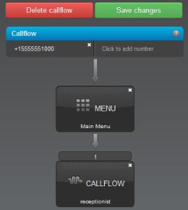 Menu saving callflow option 1