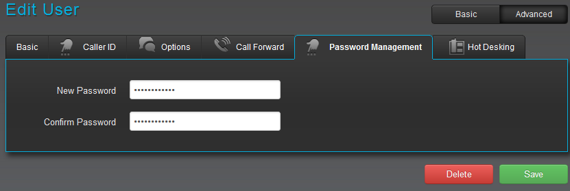 Password Management for users